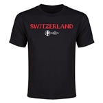 Switzerland Euro 2016 Youth T-Shirt (Black)