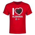Albania Euro 2016 Heart Youth T-Shirt (Red)