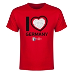 Germany Euro 2016 Heart Youth T-Shirt (Red)
