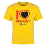 Germany Euro 2016 Heart Youth T-Shirt (Yellow)