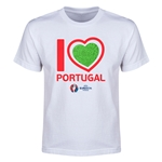 Portugal Euro 2016 Heart Youth T-Shirt (Red)