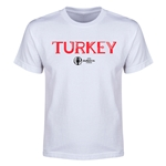 Turkey Euro 2016 Youth T-Shirt (White)