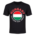 Hungary Euro 2016 Youth T-Shirt (Black)