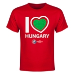 Hungary Euro 2016 Heart Youth T-Shirt (Red)