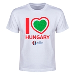 Hungary Euro 2016 Heart Youth T-Shirt (White)