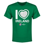 Ireland Euro 2016 Heart Youth T-Shirt (Green)