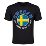 Sweden Euro 2016 Youth T-Shirt (Black)