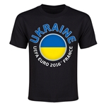 Ukraine Euro 2016 Youth T-Shirt (Black)