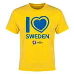 Sweden Euro 2016 Heart Youth T-Shirt (Yellow)