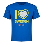 Sweden Euro 2016 Heart Youth T-Shirt (Royal)