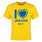 Ukraine Euro 2016 Heart Youth T-Shirt (Yellow)