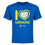 Ukraine Euro 2016 Heart Youth T-Shirt (Royal)