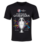 Portugal UEFA Euro 2016 Champions Youth T-Shirt (Black)