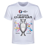 Portugal UEFA Euro 2016 Champions Youth T-Shirt (White)