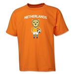Netherlands Animal Mascot Youth T-Shirt (Orange)