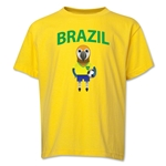 Brazil Animal Mascot Youth T-Shirt (Yellow)