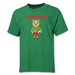 Cameroon Animal Mascot Youth T-Shirt (Green)