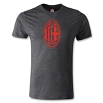 AC Milan Distressed Logo Men's Fashion T-Shirt (Dark Gray)