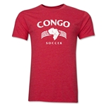 Congo Soccer Men's Fashion T-Shirt (Heather Red)