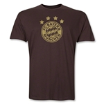 Bayern Munich Team Badge Men's Fashion T-Shirt (Brown)