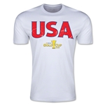 CONCACAF Gold Cup 2015 USA Big Logo Men's Fashion T-Shirt (White)