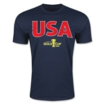CONCACAF Gold Cup 2015 USA Big Logo Men's Fashion T-Shirt (Navy)