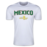 CONCACAF Gold Cup 2015 Mexico Big Logo Men's Fashion T-Shirt (White)
