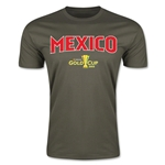CONCACAF Gold Cup 2015 Mexico Big Logo Men's Fashion T-Shirt (Dark Green)
