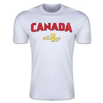CONCACAF Gold Cup 2015 Canada Big Logo Men's Fashion T-Shirt (White)