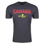 CONCACAF Gold Cup 2015 Canada Big Logo Men's Fashion T-Shirt (Dark Grey)