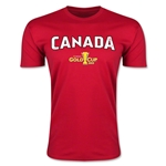 CONCACAF Gold Cup 2015 Canada Big Logo Men's Fashion T-Shirt (Red)
