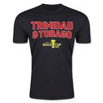 CONCACAF Gold Cup 2015 Trinidad & Tobago Big Logo Men's Fashion T-Shirt (Black)