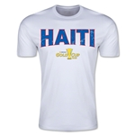 CONCACAF Gold Cup 2015 Haiti Big Logo Men's Fashion T-Shirt (White)