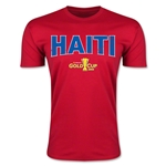 CONCACAF Gold Cup 2015 Haiti Big Logo Men's Fashion T-Shirt (Red)