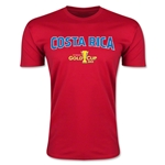 CONCACAF Gold Cup 2015 Costa Rica Big Logo Men's Fashion T-Shirt (Red)