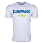 CONCACAF Gold Cup 2015 El Salvador Big Logo Men's Fashion T-Shirt (White)