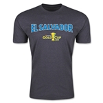 CONCACAF Gold Cup 2015 El Salvador Big Logo Men's Fashion T-Shirt (Dark Grey)