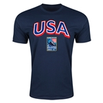 USA CONCACAF 2015 Men's Olympic Qualifying Men's Fashion T-Shirt (Navy)