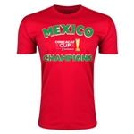 Mexico CONCACAF 2015 Cup Champions Men's Fashiont T-Shirt (Red)