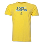Saint Martin CONCACAF Distressed Men's Fashion T-Shirt (Yellow)