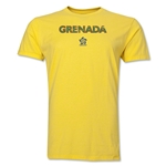 Grenada CONCACAF Distressed Men's Fashion T-Shirt (Yellow)