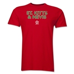 St. Kitts & Nevis CONCACAF Distressed Men's Fashion T-Shirt (Red)