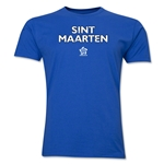 St. Maarten CONCACAF Distressed Men's Fashion T-Shirt (Royal)