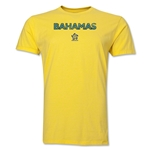 Bahamas CONCACAF Distressed Men's Fashion T-Shirt (Yellow)