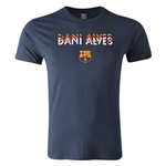 Barcelona Dani Alves Men's Fashion T-Shirt (Navy)