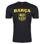 Barcelona Distressed Men's Fashion T-Shirt (Black)