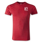 FIFA Confederations Cup 2013 Men's Fashion Small Emblem T-Shirt (Heather Red)