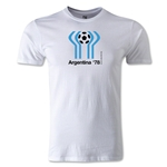 1978 FIFA World Cup Logo Men's Fashion T-Shirt (White)