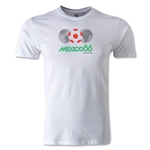1986 FIFA World Cup Logo Men's Fashion T-Shirt (White)