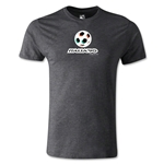 1990 FIFA World Cup Logo Men's Fashion T-Shirt (Dark Gray)